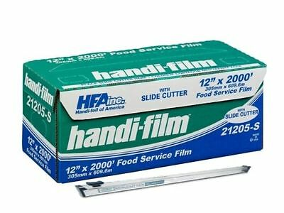 """HFA 12""""x2000' Food Service Plastic Cling Wrap w/Zip-Safe Safety Slide Cutter"""