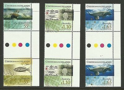 Cocos (Keeling) Isle 2009 Anniv First European Sighting Set 3 Gutter Pairs