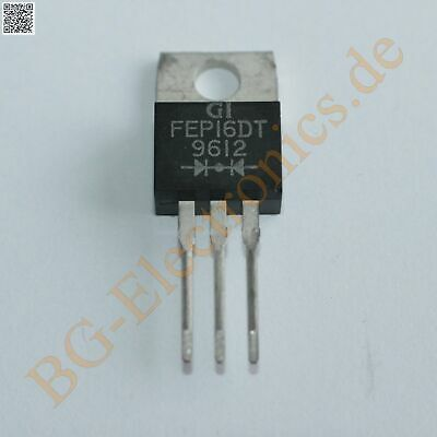 5 x FEP16DT Ultra Fast Recovery Rectifier 200V 16A  General I TO-220 5pcs