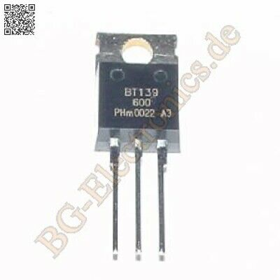 2 x BT139-600 TRIAC BT139600 Philips TO-220 2pcs