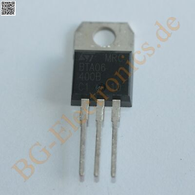 5 x BTA06-400B TRIAC STM TO-220 5pcs
