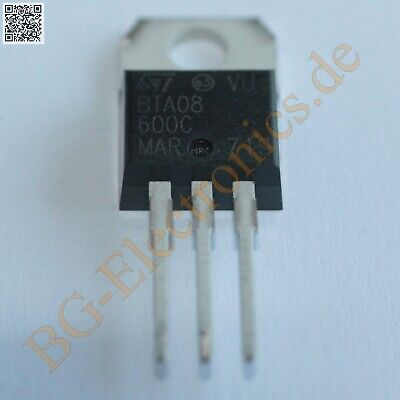 2 x BTA08-600C Triac BTA08600C STM TO-220 2pcs