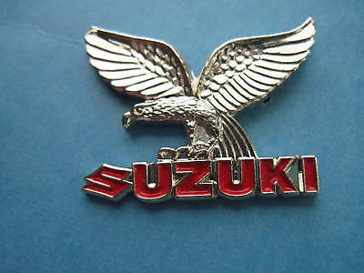 SUZUKII with eagle winge  MOTORCYCLE -- Hat pin -SILVER