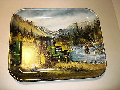 "John Deere 2001 ""lunch Break On The Family Farm"" Metal Tray"