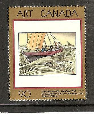 Canada # 1635 Mnh Art Type Of 1988. Painting, York Boat On Lake Winnipeg.