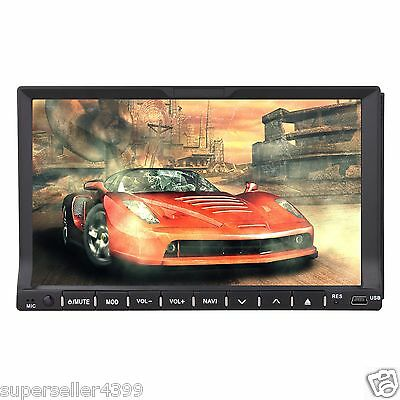 "HD LCD 7"" Touch Screen 2 Din In dash Car Stereo DVD Player Radio Ipod TV BT SU02"