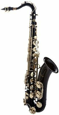 Hawk Black Tenor Saxophone, FREE Case, and FREE Mouthpiece, School Approved
