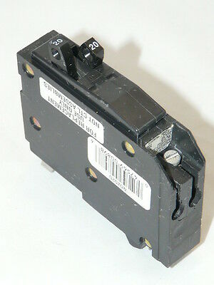Used Square D QO2020 Circuit Breaker 2-1 pole 20 amp 120 volt