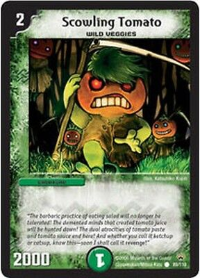 Duel Master TGC Scowling Tomato DM10 Shockwaves of the Shattered Rainbow