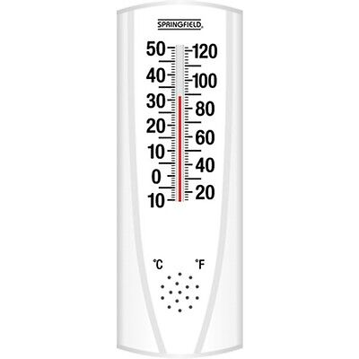 Springfield 90110 6.5 inch Indoor-Outdoor Vertical Thermometer F and C NEW