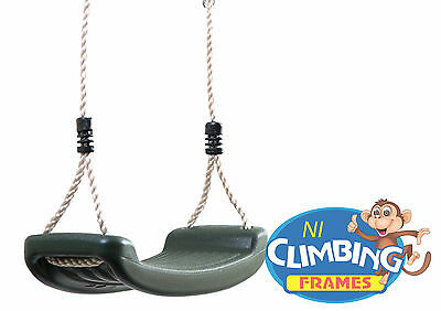 Children's Replacement GREEN Swing Seat Height Adjustable Rope Climbing Frame