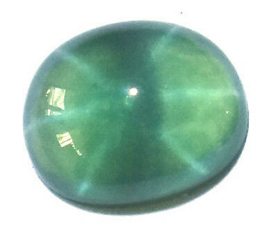 7x6 mm Oval Synthetic Green Star Sapphire