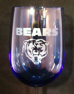 Chicago Bears Blue Wine Glasses 18.5 oz Set of 2-NFL- Football-Sports