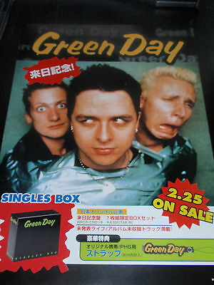 GREEN DAY Japan flyer SINGLES BOX mini-poster VINTAGE rare find AMERICAN IDIOT