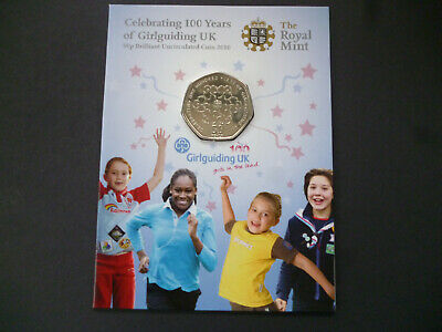 Girl Guides 100 Years - Royal Mint 2010  Brilliant Uncirculated 50P, Free Post.