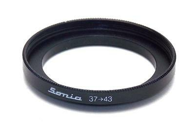 Metal Step up ring 37mm to 43mm 37-43 Sonia New Adapter