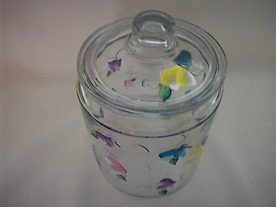 Hand painted Butterfly cookie jar