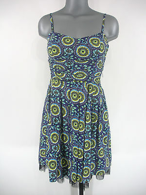 9bf156438a6 NWT Juniors B. DARLIN Black Purple Blue Abstract Print Casual Dress  59 Sz  7
