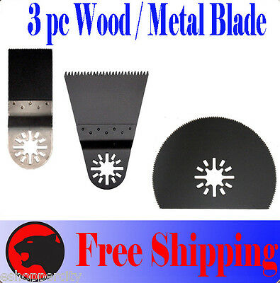 3 Wood Metal Oscillating Multi Tool Saw Blade For Fein Multimaster Bosch Dremel