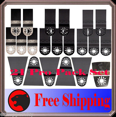 21 Pc Pro Oscillating Multi Tool Saw For Blade Dremel Fein Multimaster Bosch -X
