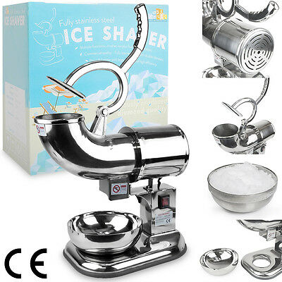 Heavy Duty Commercial 440lb/h Snow Cone Ice Shaver Shaved Icee Steel Machine