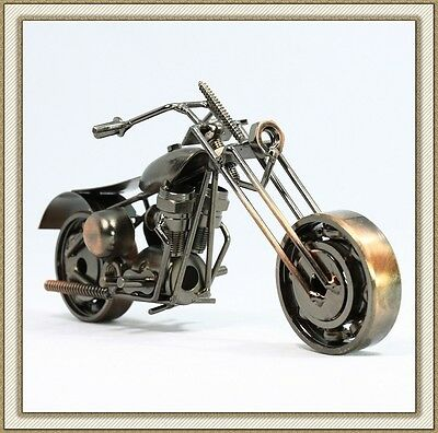 Recycled Metal Art Hand Made Vintage Harley-Davidson Motorcycle Model M120A
