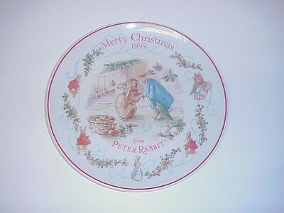 WEDGWOOD PETER RABBIT CHRISTMAS SALAD PLATE 1998