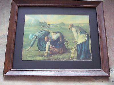 The Gleaners Antique Lithograph Jean Francois Millet
