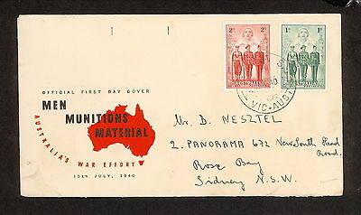 FDC 1940   AIF First Day Cover 1d & 2d ADDRESSED Brighton S 5 VicPostmark (3391)