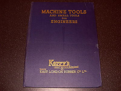 Kerry's Ltd Catalogue Of Machine Tools And Small Tools For Engineers - As Photo