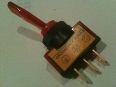 Illuminated toggle switch with RED light