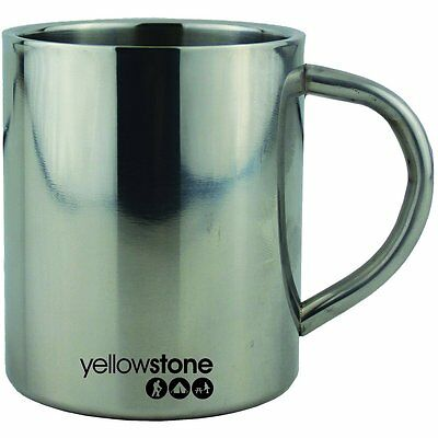 Yellowstone 300ml Stainless Steel Mug Camping Metal Tea Coffee Handle