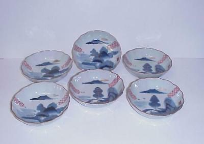 Antique Chinese Rice Bowls Set 6