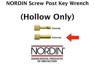 Dental Screw Post Key Wrench by * NORDIN * for screw posts == Hollow Key