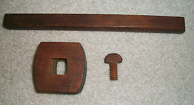 Antique SOLID WOOD MARKING / MORTISING GAUGE With Wooden Screw-Woodworking Tool