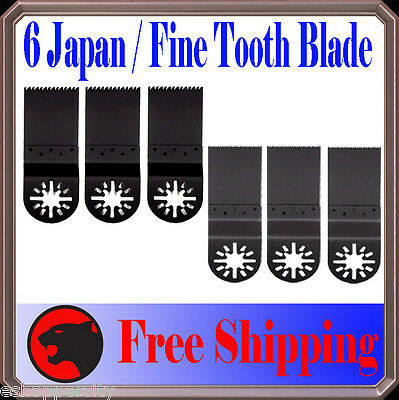6 Japan/Fine Wood Oscillating Multi Tool Saw For Blade Fein Multimaster Bosch -X