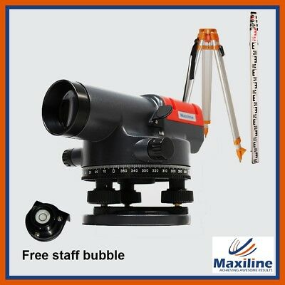 32 X Automatic Dumpy Level + Tripod + 5M Light Weighted Staff + Tax Invoice