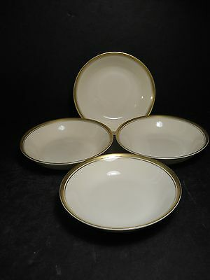 vtg Syracuse China Monticello Lot of 4 Berry Bowls Old Ivory Made n America USA