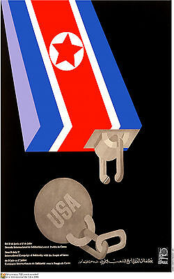 OSPAAAL Political Poster North Korea Corea Coree Reunification of North /& South