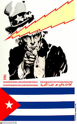 Political Cuban POSTER.US UNCLE SAM and Revolution.52.Revolution History art