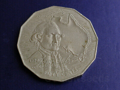 50 Cent Coin 1970 Captain James Cook Bicentenary Australian 50c out circulation