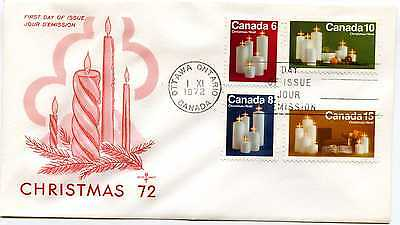 Canada 606-09 Candles Christmas 1972, on one RoseCraft FDC