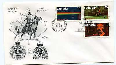 Canada 612-14 Royal Canadian Mounted Police,on one RoseCraft FDC