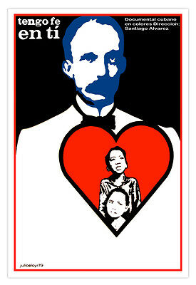 Cuban movie Poster.JOSE MARTI Heart.art.Cuba history.Home room wall decoration