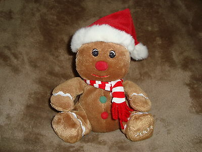"""Sears Exclusive Charity 2004 Christmas Gingerbread Plush Beanbag Gingerbell 6"""""""