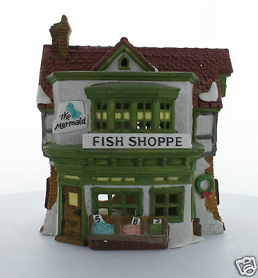 Department 56 Dickens' Village Collectible The Mermaid Fish Shoppe 1988 #59269