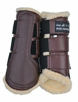 HKM Fleece Lined Brushing/Dressage/Flatwork Boots Small-XLarge NEW in Brown!