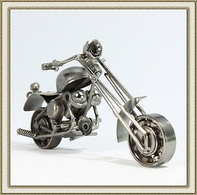 Recycled Metal Art Hand Made Vintage Harley-Davidson Motorcycle Model Decor M34C