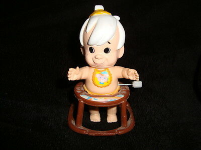 Flintstones BAMM BAMM RUBBLE 1993 White Knob Wind Up