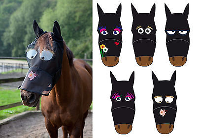 Full Face Funny Cartoon Fly Mask/Veil/Hood - Thin Polyester Ears/Nose Protection